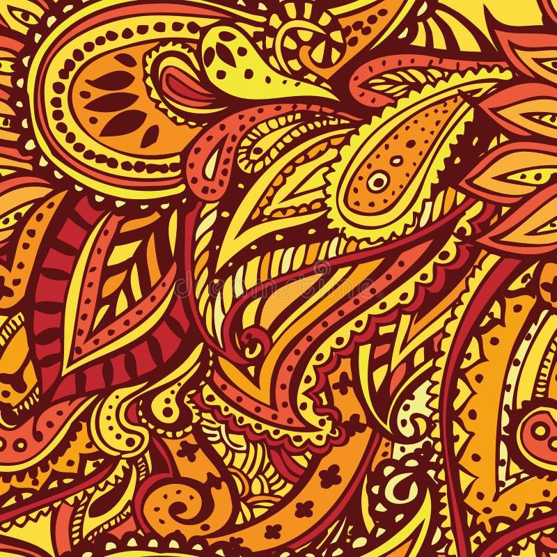 Het naadloze patroon van Paisley stock illustratie