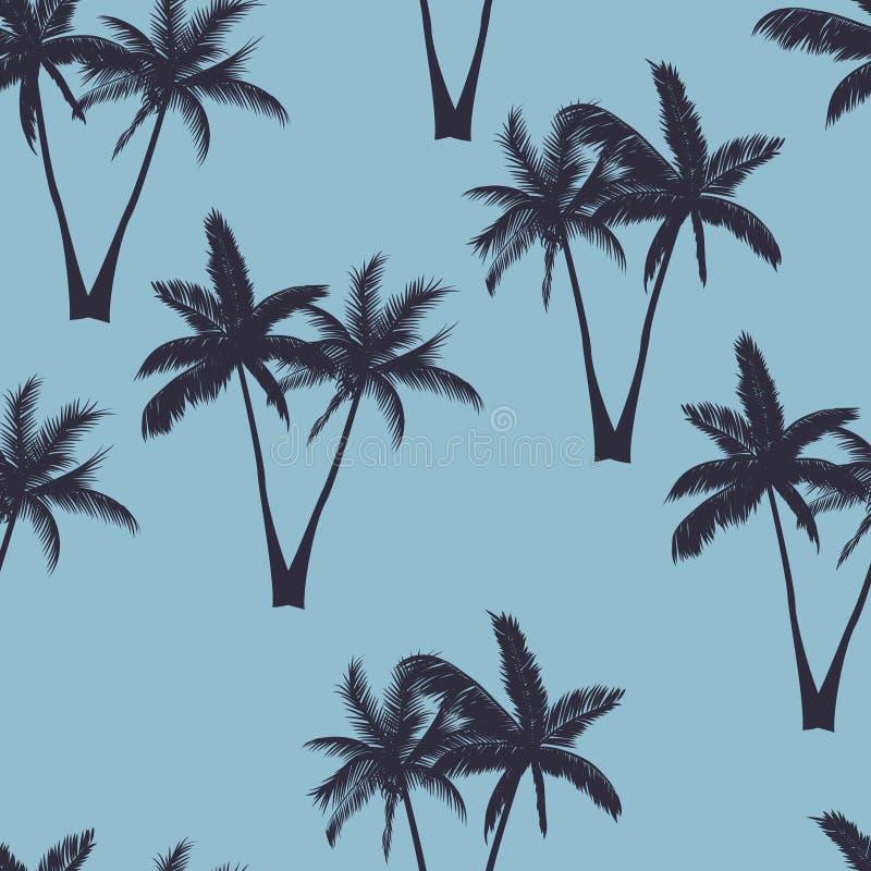 Het naadloze patroon van palmen vector illustratie
