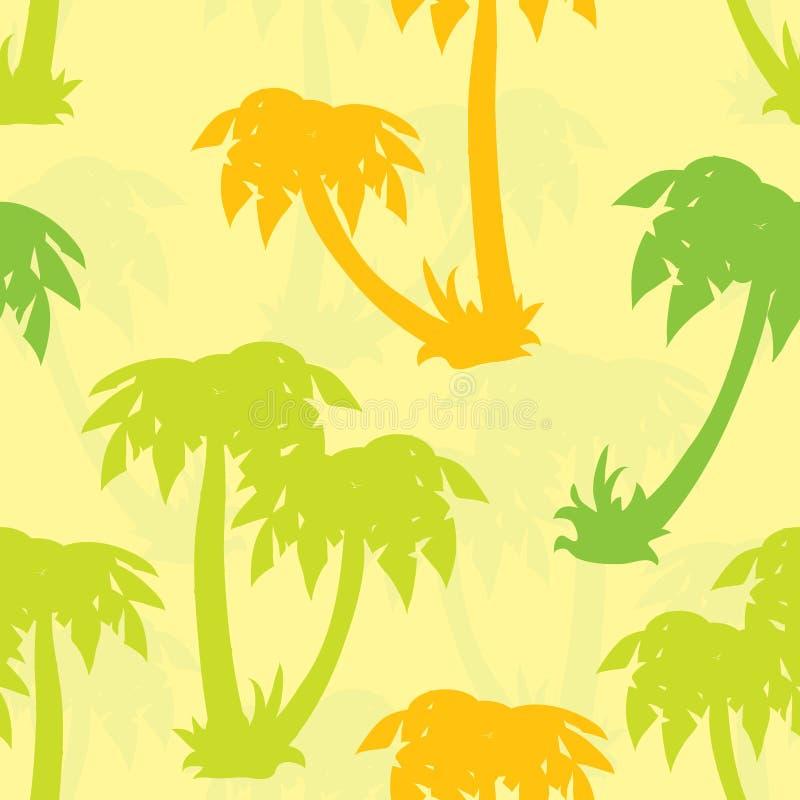 Het naadloze patroon van palmen, vector stock illustratie