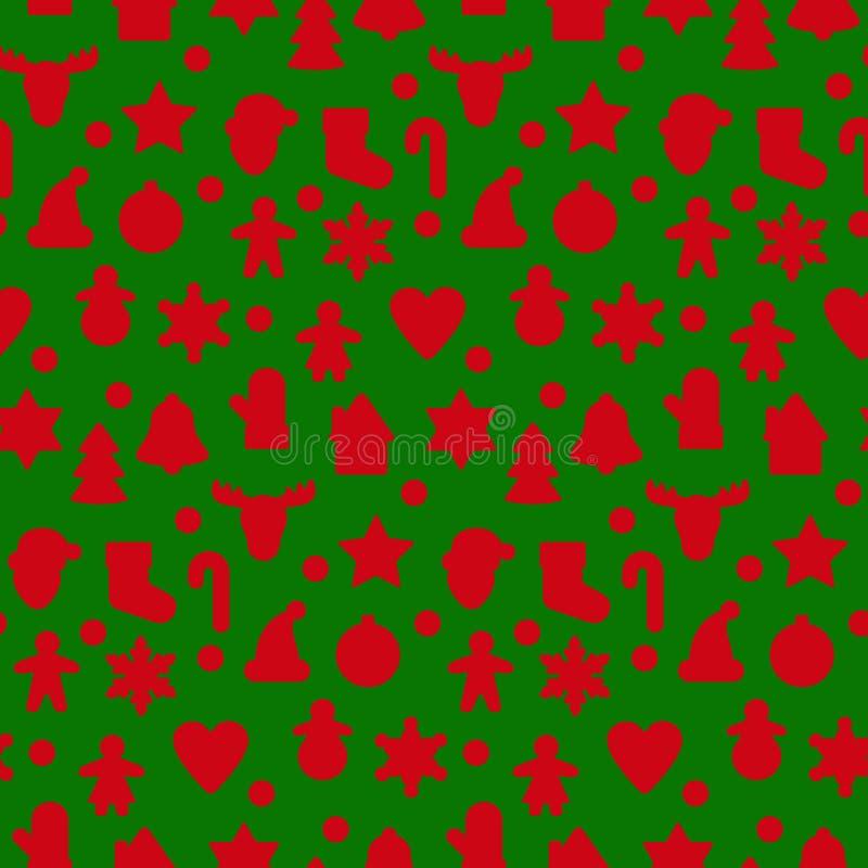 Het naadloze patroon van het peperkoeksilhouet royalty-vrije illustratie