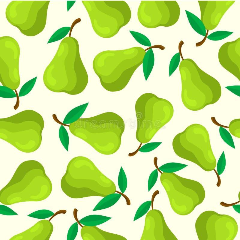 Het naadloze patroon van het perenfruit stock illustratie