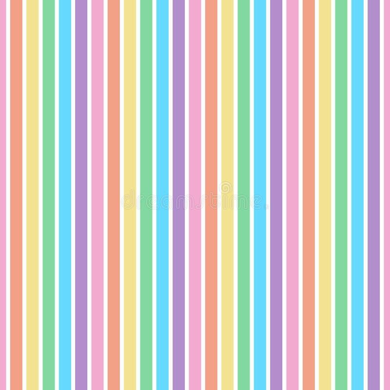 Het naadloze patroon van regenboogstrepen vector illustratie