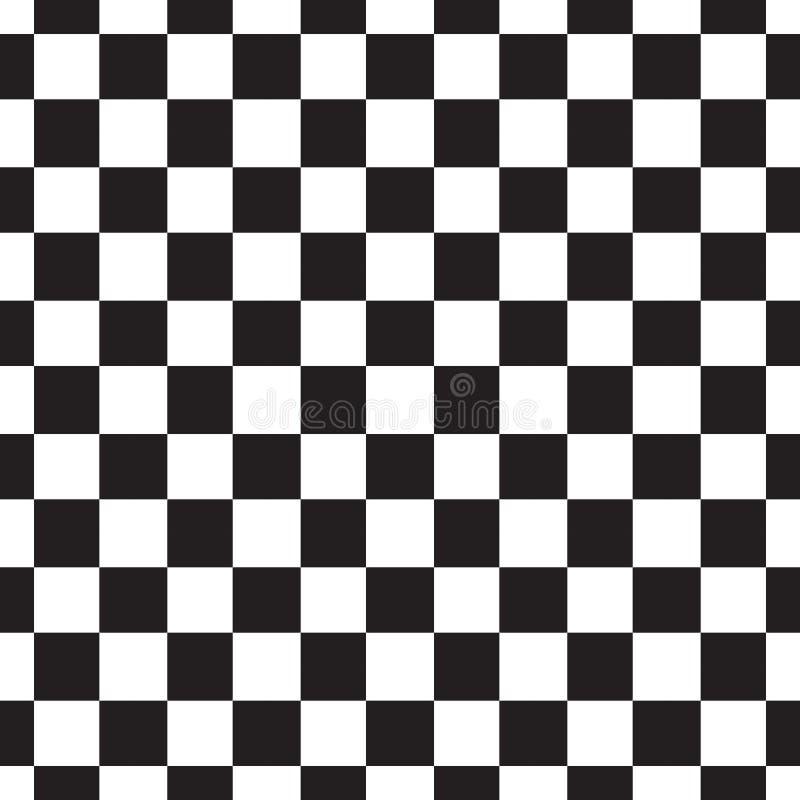 Het naadloze patroon van het schaakbord Zwart-witte abstracte, geometrische oneindige achtergrond Vierkante het herhalen textuur  royalty-vrije illustratie