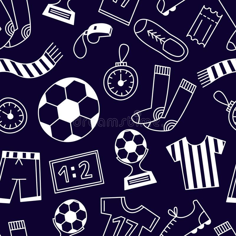 Het naadloze patroon van sporten stock fotografie