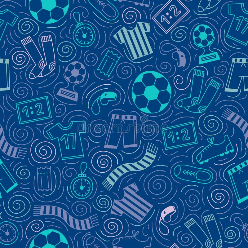 Het naadloze patroon van sporten stock afbeelding