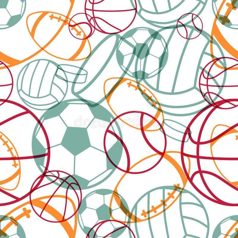 Het naadloze patroon van sporten royalty-vrije illustratie