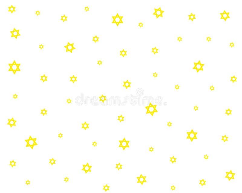 Het Naadloze Patroon van sterren royalty-vrije illustratie