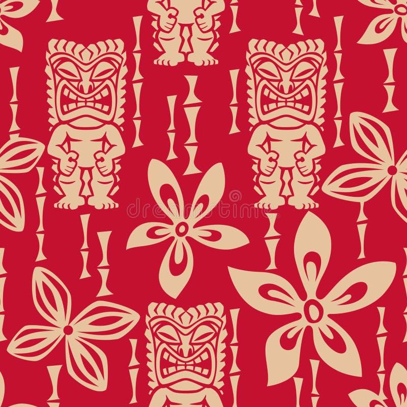 Het naadloze Patroon van Tiki Tapa