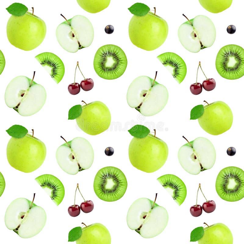 Het naadloze patroon van vruchten stock foto's