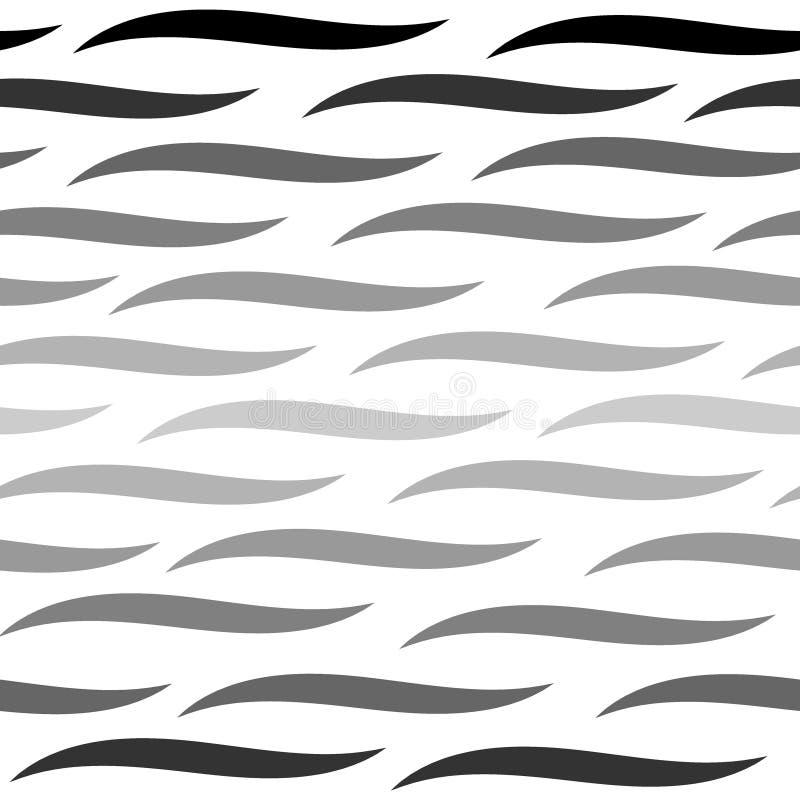 Het naadloze patroon van watergolven, krommelijnen Ritmische golven stock foto