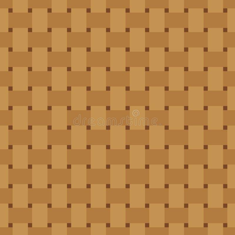 Het Naadloze Patroon van het Weefsel van de mand Rijs die textuur herhalen Het vlechten van ononderbroken achtergrond o Geometris royalty-vrije illustratie