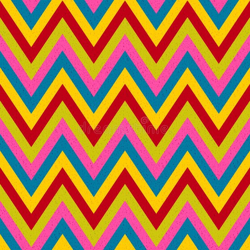 Het naadloze patroon van zigzagstrepen royalty-vrije illustratie