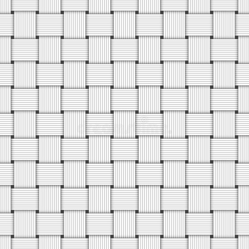 Het naadloze Patroon vlechtte Gevoerde Witboek rechtstreeks Strepen vector illustratie
