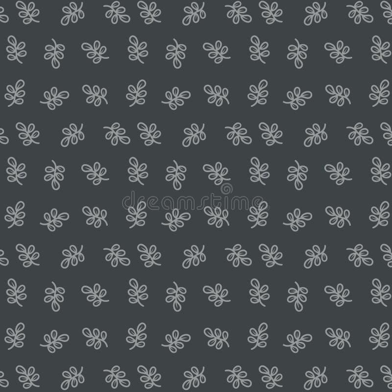Het naadloze patroonindividu verlaat elegante retro stijl vector illustratie