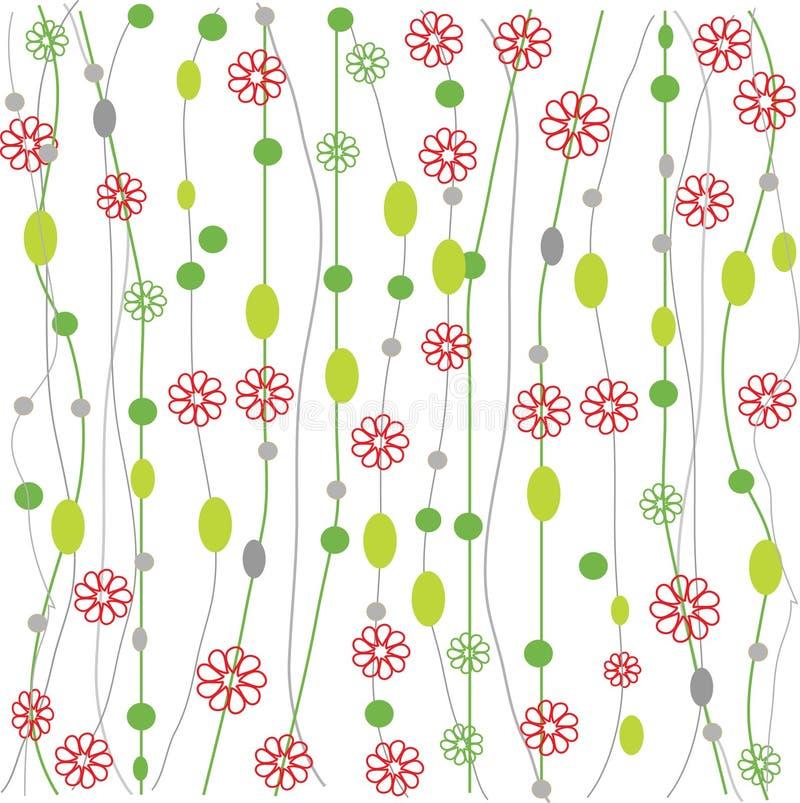 Het naadloze retro patroon van de colourfullbloem vector illustratie