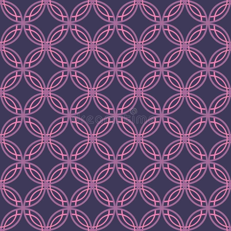 Het naadloze Retro Patroon van het Behang stock illustratie