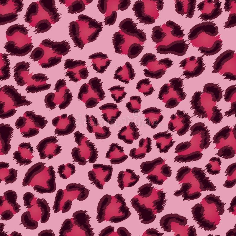 Het naadloze roze patroon van de luipaardtextuur. vector illustratie