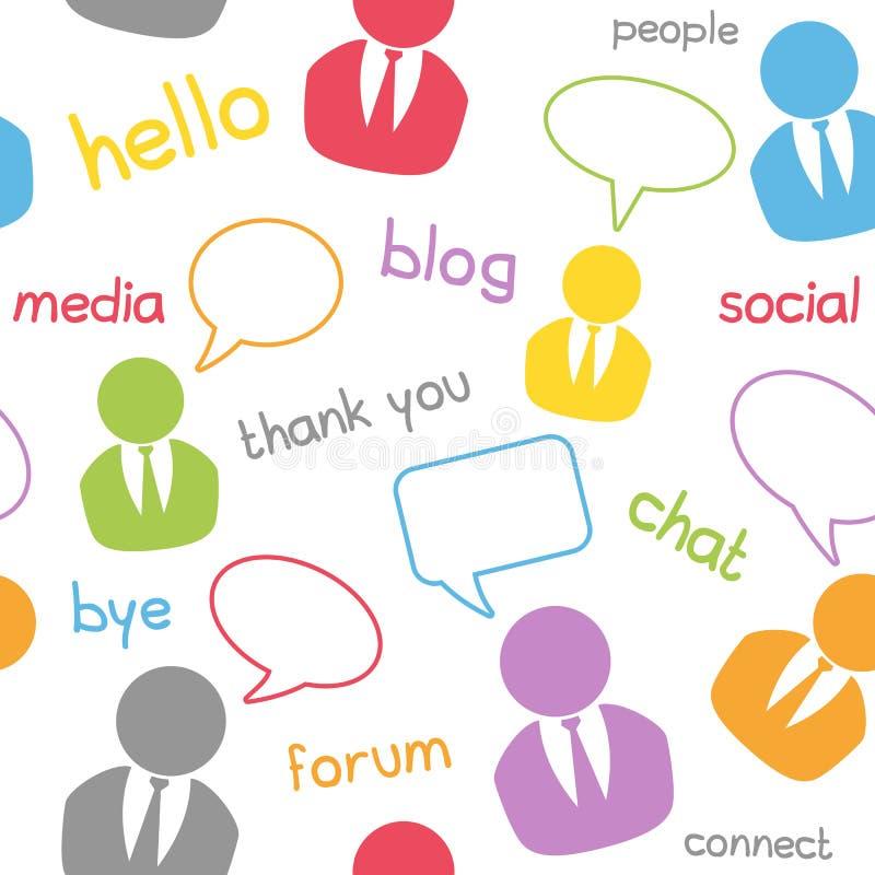 Het naadloze Sociale Patroon van Media royalty-vrije illustratie