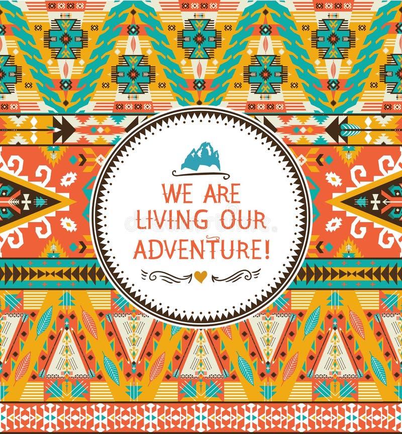 Het naadloze stammen kleurrijke patroon van Navajo royalty-vrije illustratie