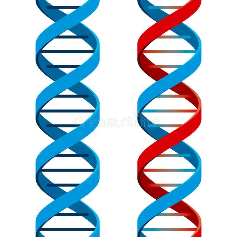 Het naadloze Symbool van DNA royalty-vrije illustratie