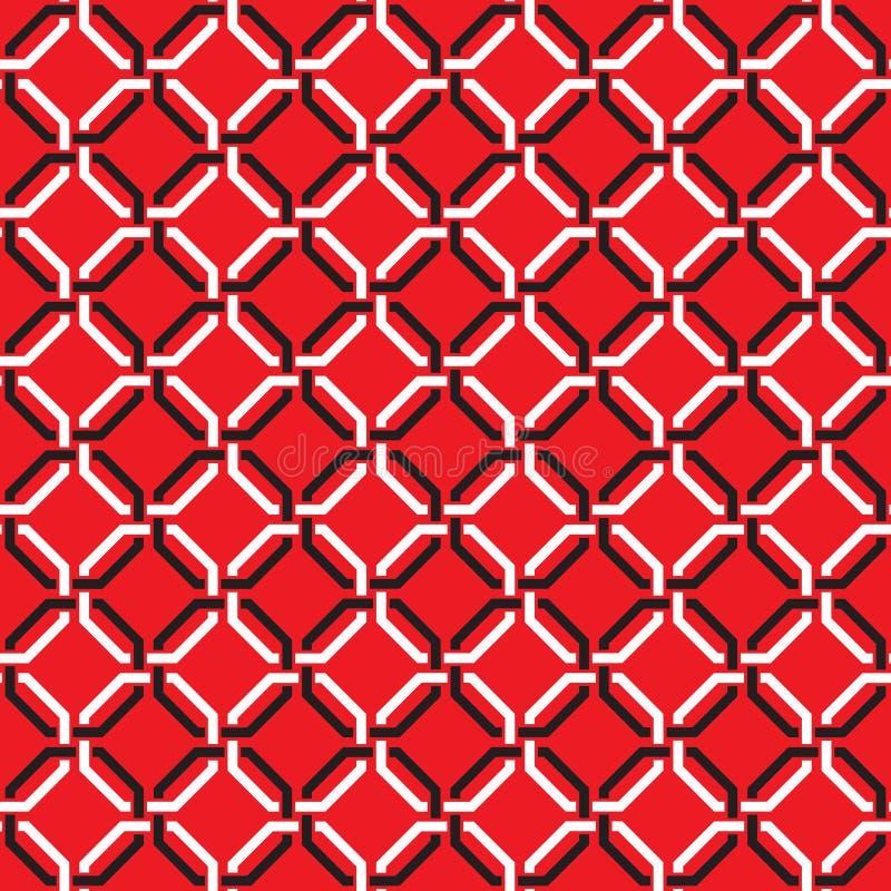Het naadloze uitstekende behang van het het roosterlatwerk verweven damast van de kettingsverbinding stock illustratie