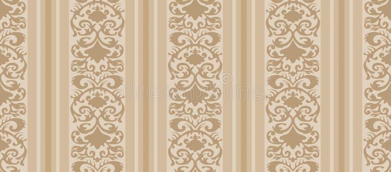 Het naadloze Uitstekende Patroon van het Behang stock illustratie