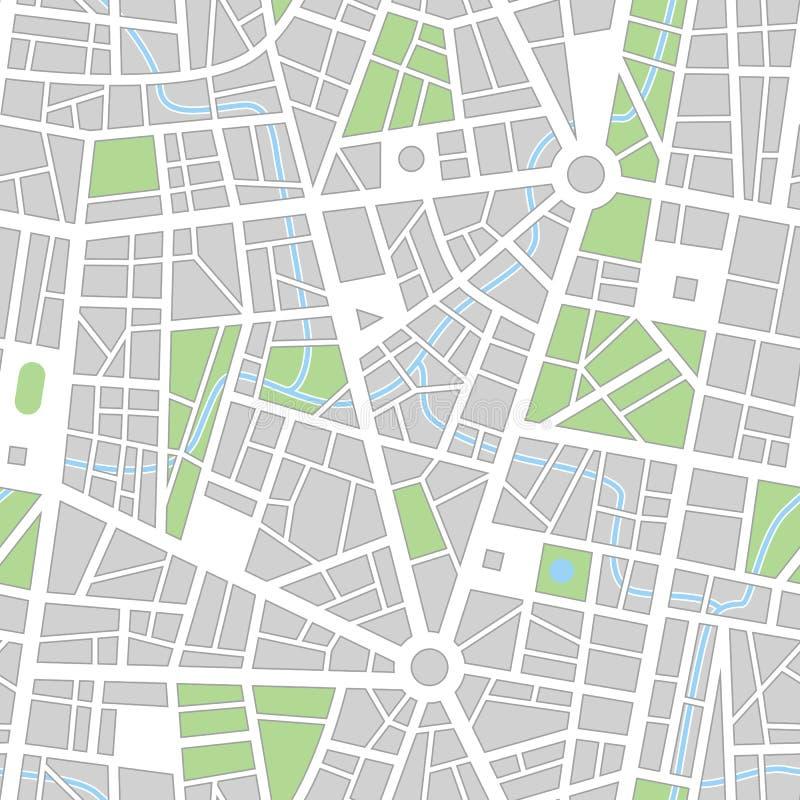 Het naadloze vectorbehang van de stad vector illustratie