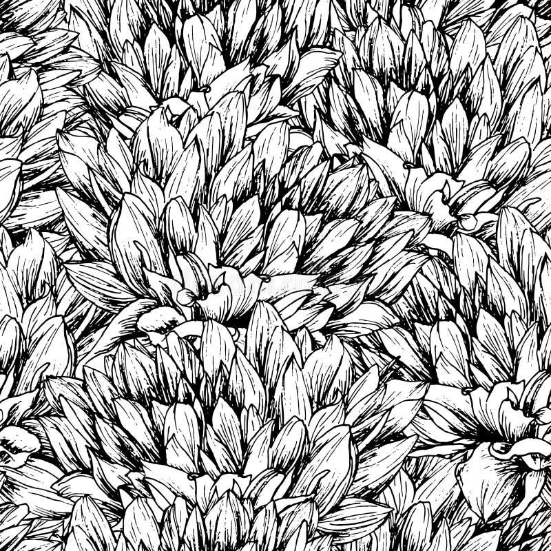 Het Naadloze Vectorpatroon van de pioenbloem royalty-vrije illustratie