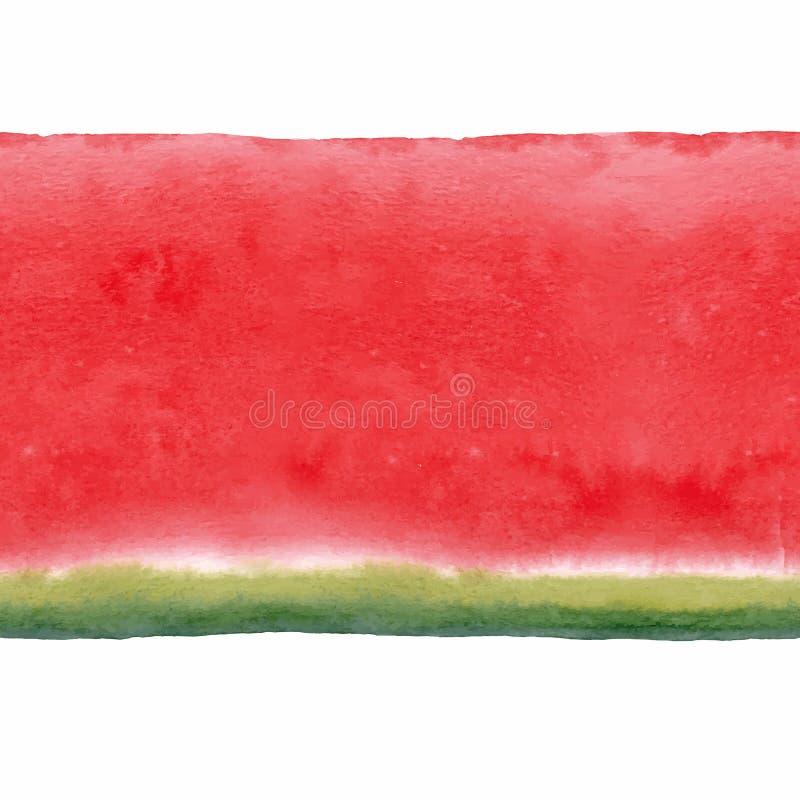 Het naadloze vectorpatroon van de waterverfwatermeloen royalty-vrije illustratie