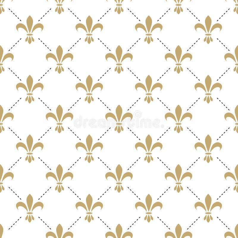 Het naadloze vectorpatroon van Fleurde lis frans vector illustratie