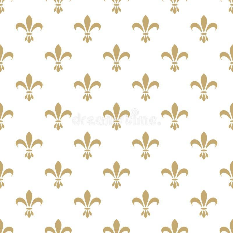 Het naadloze vectorpatroon van Fleurde lis frans stock illustratie