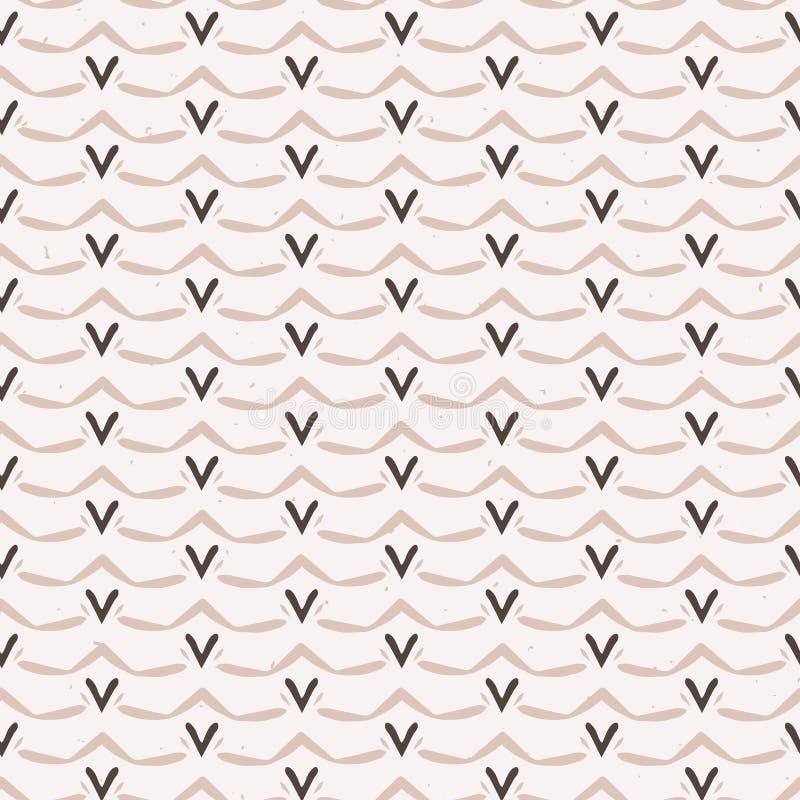 Het Naadloze Vectorpatroon van hartgarland stripes folk art texture De winter stock illustratie