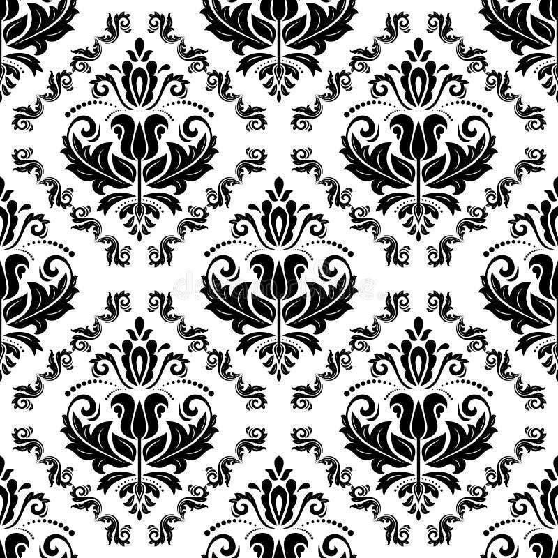 Het naadloze vectorpatroon van het damast Voor gemakkelijk makend naadloos patroon enkel om al groep te slepen in monstersstaaf,  stock illustratie