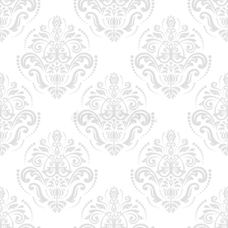 Het naadloze vectorpatroon van het damast Voor gemakkelijk makend naadloos patroon enkel om al groep te slepen in monstersstaaf,  royalty-vrije illustratie