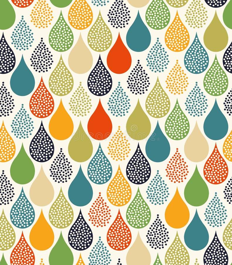 Het naadloze water laat vallen patroon stock illustratie