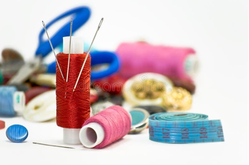 Het naaien. stock fotografie