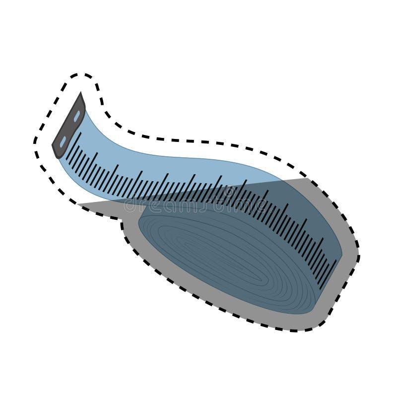 het naaien meetlint stock illustratie