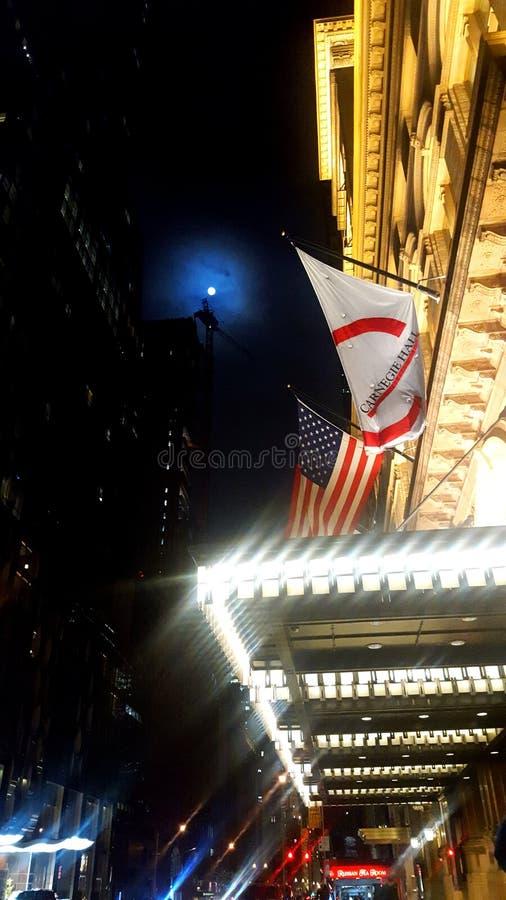 Het nachtleven New York stock foto's