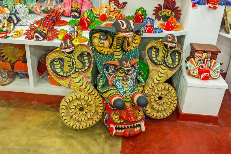 Het Naga-Masker van Sri Lanka royalty-vrije stock fotografie