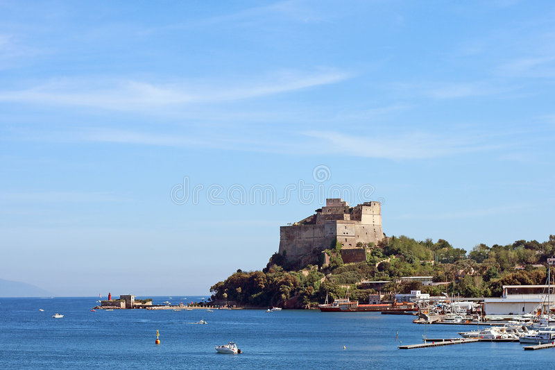 Het Napels-Baia-kasteel royalty-vrije stock fotografie