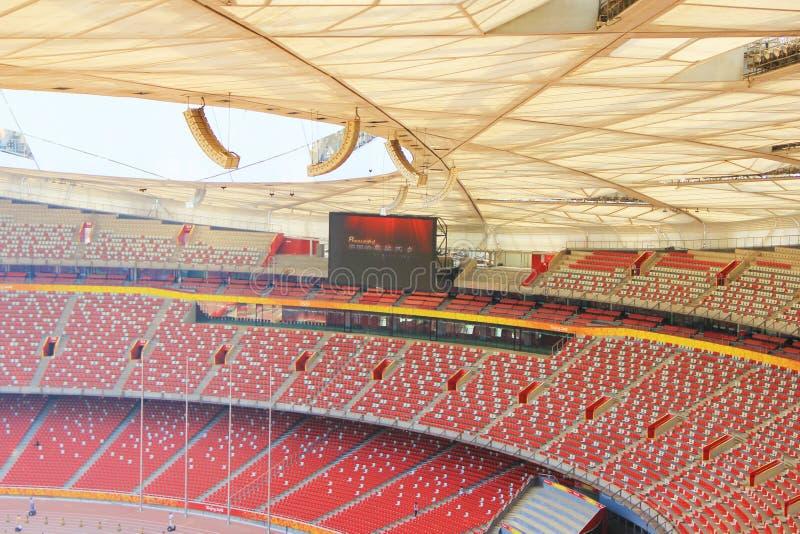 Het Nationaal Olympisch Stadion van Peking/Vogels Nest stock afbeelding