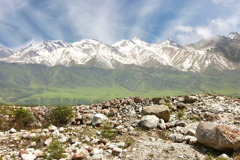 Het Nationaal Park van de Ala Archa van Bisjkek Kirgizië stock afbeelding