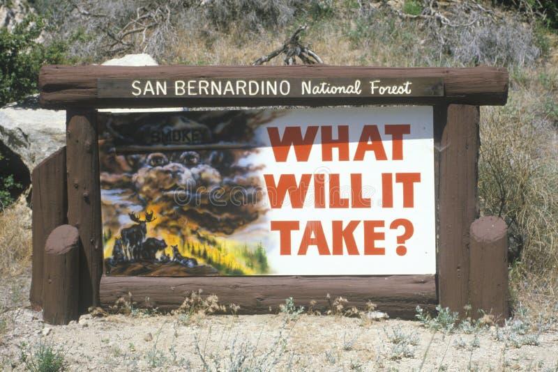 Het National Forest teken van San Bernardino stock fotografie