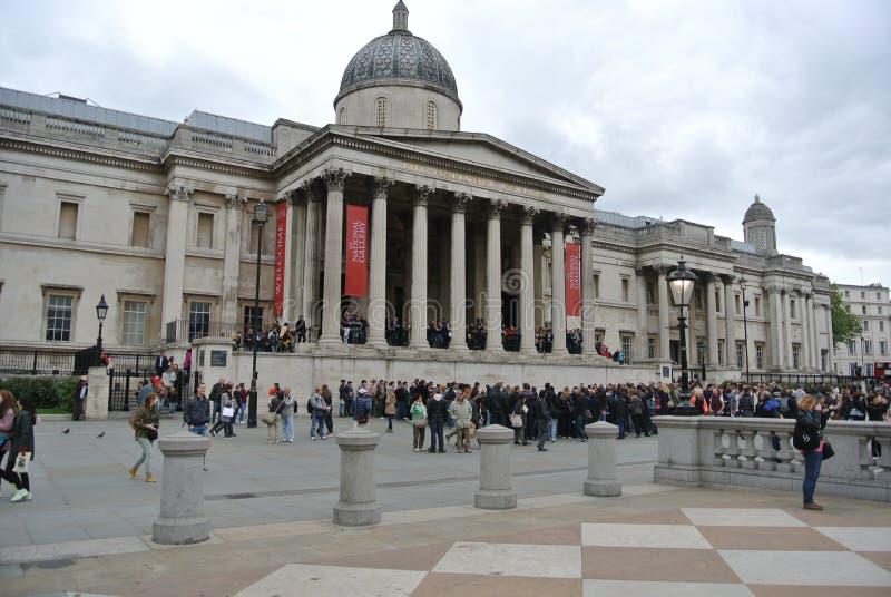 Het National Gallery Brits Art Museum van Londen royalty-vrije stock foto's