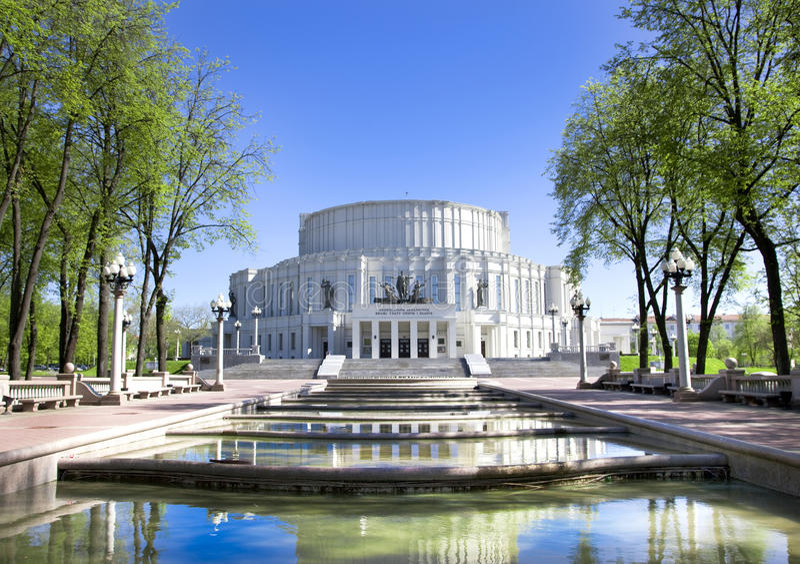 Het nationale Academische Theater van de Opera Bolshoi en van het Ballet royalty-vrije stock afbeeldingen