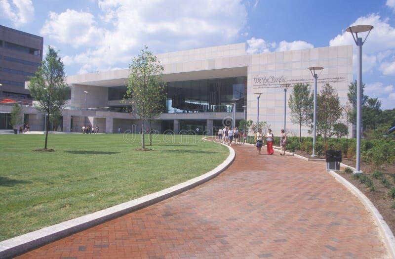 Het nationale Centrum van de Grondwet voor de Grondwet van de V S Grondwet op Onafhankelijkheidswandelgalerij, Philadelphia, Penn royalty-vrije stock afbeelding