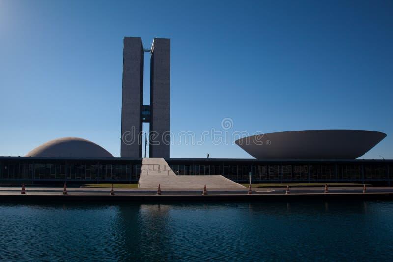 Het Nationale Congres van Brazilië stock foto
