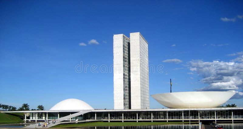 Het nationale Congres van Brazilië in Brasilia stock foto