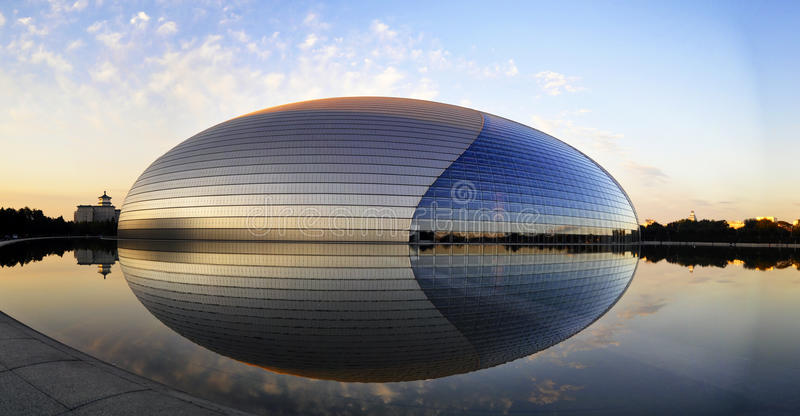 Het Nationale Grote Theater van China royalty-vrije stock afbeeldingen
