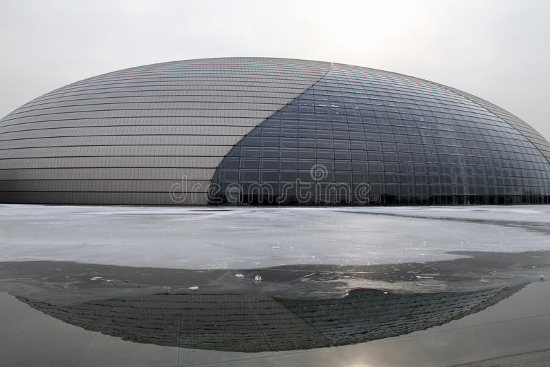 Het Nationale Grote Theater van Peking stock afbeeldingen